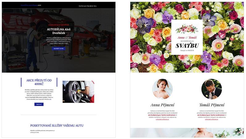 Šablony nových webů